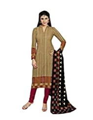 Sky Fashions Women's Multi Cotton Top Un-stiched Salwar Suit (SYFW0043)