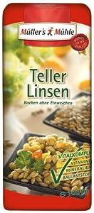 Müller's Mühle Teller-Linsen, 5er Pack (5 x 1000 g Packung) von Müller's Mühle