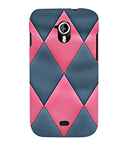 EPICCASE diamond in pink and blue Mobile Back Case Cover For Micromax A116 Canvas HD (Designer Case)
