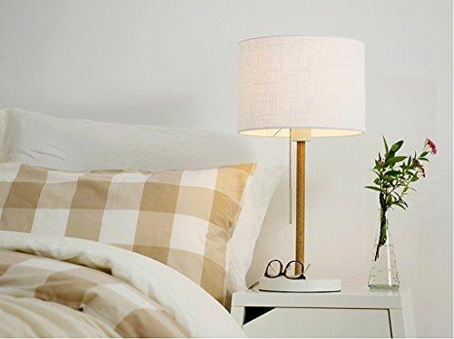 HOME Camera da letto Lampada da comodino modo creativo europeo moderno e minimalista scandinavo Sposato caldo Lampada da comodino