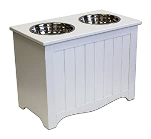 APetProject Large Pet Food Server & Storage Box, Winter White