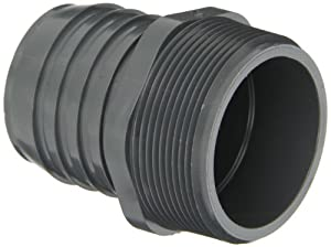 Spears 1436 Series PVC Tube Fitting, Adapter, Schedule 40, Gray, 3/4