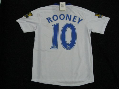 08-09 MANCHESTER UNITED AWAY JERSEY ROONEY + FREE SHORT (SIZE M)