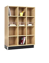 Diversified Woodcrafts CC-3615-51K Cubby Cabinet, 12 Equal Openings, 51\