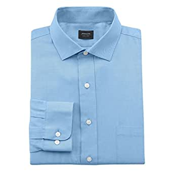 Arrow men 39 s classic fit twill spread collar wrinkle free for Wrinkle free dress shirts amazon