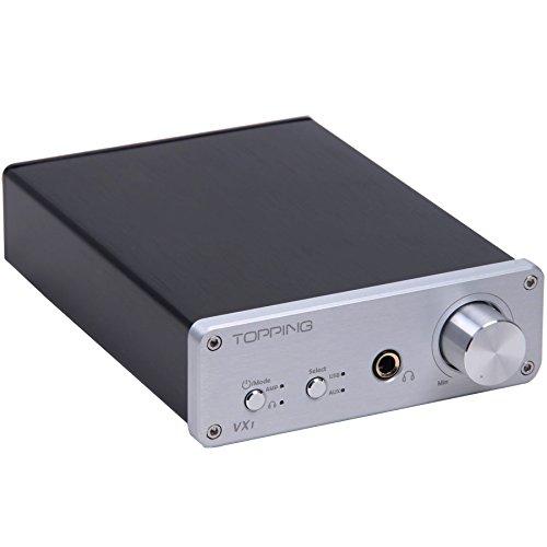 Topping VX1 2x25W Hi-Fi Power Stereo Subwoofer Amplifier 24bit/96kHz Digital USB DAC Headphone Amp