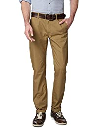 Peter England Khaki Trousers - B01CGMEKKK