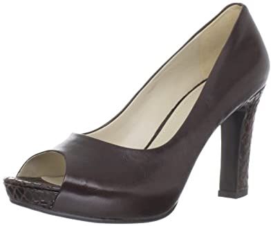 Naturalizer Women's Blaine Peep-Toe Pump,Oxbrown ,8 W US