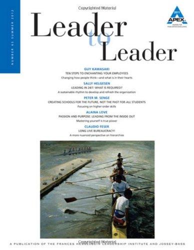 Leader to Leader (LTL), Volume 65, Summer 2012 (J-B Single Issue Leader to Leader)
