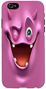 Snoogg Purple Devil Ghost 2685 Case Cover For Apple Iphone 6+