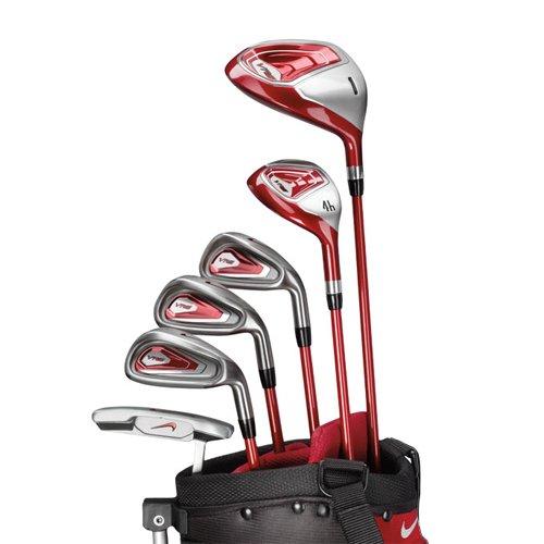 Nike Golf Kid's VRS 7-Piece Step 2 Golf Club Set, Right Hand, DR, 4, 7, 9, SW, PT GK0231-001-JRFLX