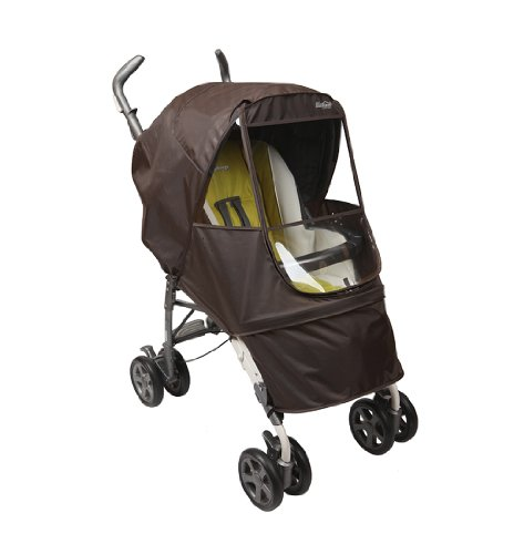 Manito Elegance Alpha Stroller Weather Shield / Rain Cover - Chocolate