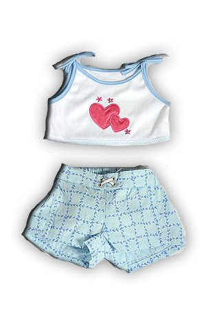 Heart Tank & Shorts Outfit for 14