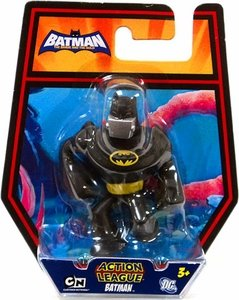 DC Batman Brave and the Bold Action League Mini Figure Batman with Silver Gas Mask