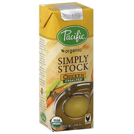 Pacific Organic Simply Stock Unsalted Chicken Stock, 8 fl oz, (Pack of 12) (Chicken Stock 8oz compare prices)