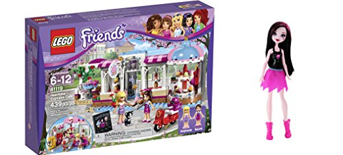 LEGO Friends Heartlake Cupcake Cafe 439 Pcs & free Gifts Ghoul Spirit Draculaura Doll (Colors may vary) Toys (Lego Friends Adventure Camper compare prices)