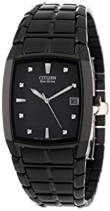Black Eco-Drive 180 Stainless Steel Black Dial