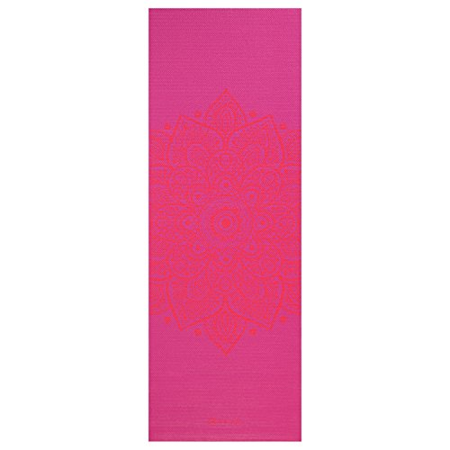 Gaiam Print Yoga Mat 3mm Pink Sundial Home Garden Decor