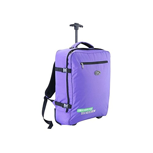 cabin-max-madrid-55x40x20cm-multi-function-trolley-and-backpack-carry-on-ryanair-easyjet-purple