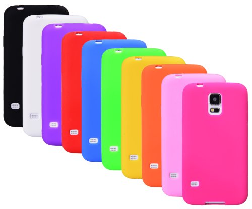 The Friendly Swede Basics Soft Silicone Rubber Cases For Samsung Galaxy S5 (10-Pack)