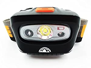 CAMPEE Outdoors Ultra Bright, Lightweight LED Headlamp w Red Light - Perfect for Hiking, Camping, Running, Biking, Fishing, and Home Improvement - *100% Satisfaction Guarantee Batteries Included