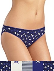 5 Pack Cotton Rich Bow Bikini Knickers