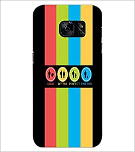 PrintDhaba Logos D-4034 Back Case Cover for SAMSUNG GALAXY S7 (Multi-Coloured)