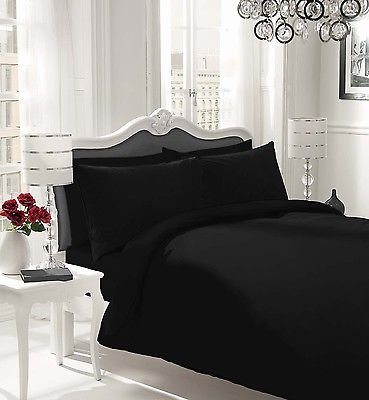 non-iron-luxury-parcale-plain-dyed-duvet-cover-2-pillow-cases-bed-set-black-single