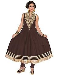 Elan Vital Women's Silk Cotton Anarkali Salwar Suit - B0188YGRT2
