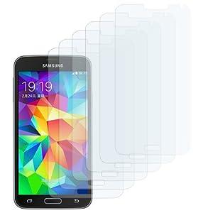 EasyAcc Samsung Galaxy S5 Schutzfolie Klar Displayschutzfolie Folie Clear Displayfolie Displayschutz Invisible Screen Protector mit Reinigungstücher für Samsung Galaxy S5 i9600 - Klar / HD /Schmutzresistent (6-Pcs)