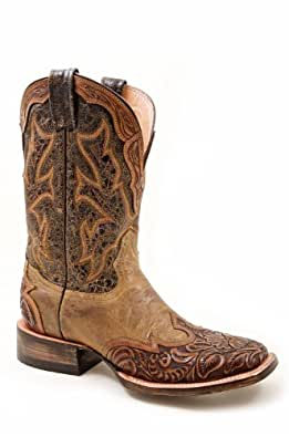Stetson 12-021-8861-0720 Or Ladies Leather Boot Orange size 5