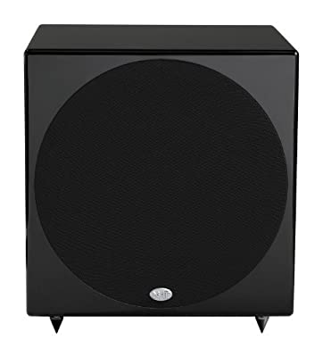 NHT B-10d 300-Watt Powered Subwoofer with DSP (Piano Gloss Black, Single) by NHT Inc.