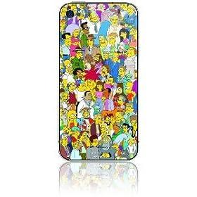 �y�ی�V�[���z�V���v�\���Y iPhone 4 4S �A�C�t�H�� 4S Simpsons Protective Skin