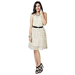 Eavan Women's Casual Wear Haltered Polyester Dress