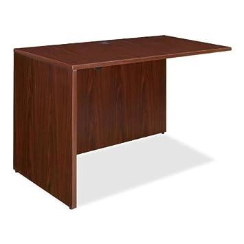 Lorell LLR69388 69000 Series Desk, Mahogany