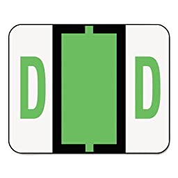 SMD67074 - Smead 67074 Light Green BCCR Bar-Style Color-Coded Alphabetic Label - D