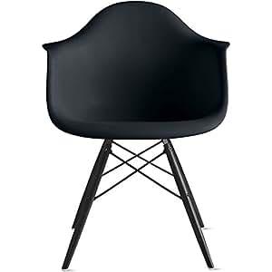 Amazon.com - 2xhome - Black - Eames Style Armchair Black
