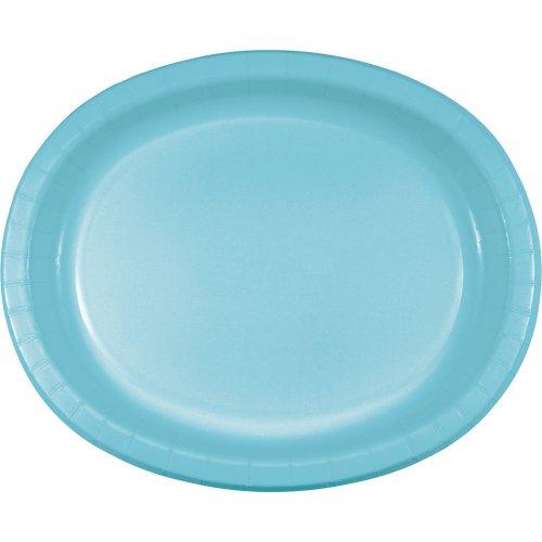"Oval Platter 10""X12"" 8/Pkg-Pastel Blue"