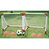 Kids 2 MINI SOCCER GOAL SET (twin practice goals) Childrens Footballby JACKSONS LEISURE...