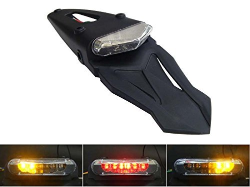 Universal Motorcycle Led Stop / Tail Light With Integrated Indicators For Rear Mudguard / Fender