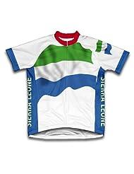 Sierra Leone Flag Short Sleeve Cycling Jersey for Women