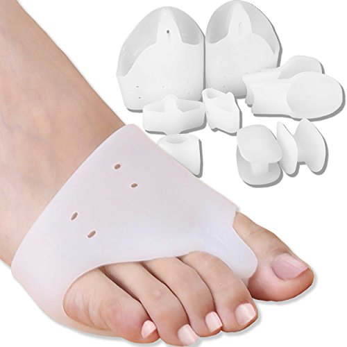 DR JK- Bunion Relief, Toe Separators and Ball of Foot Cushions BunionPal Kit for Women and Men