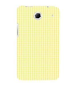 Yellow Checks Pattern 3D Hard Polycarbonate Designer Back Case Cover for Lenovo K880
