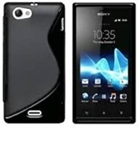 S Line Silicon Back Cover FOR Sony Xperia J + HANDSFREE