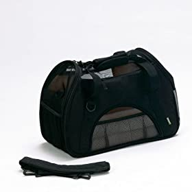 Bergan Comfort Carrier Soft-Sided Pet Carrier, Small, Black