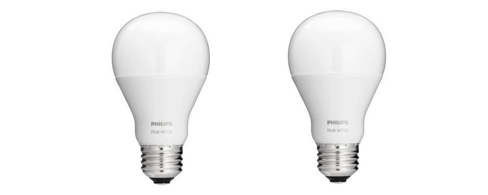 Philips 455295 Hue White 60W Equivalent A19 Single LED Bulb (2 Pack)