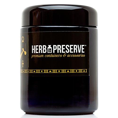 Herb Preserve Half Oz (250 Ml) Capacity Medium Size Screwtop Jar Black Ultraviolet Refillable Glass Stash (Preserve Jars compare prices)