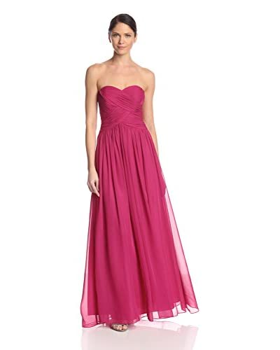 JS Boutique Women's Strapless Gown with Ruching