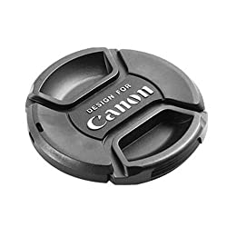 JYC 77Mm Center-Pinch Snap-On Camera Lens Cap For Canon 77Mm Lens Cap, Black