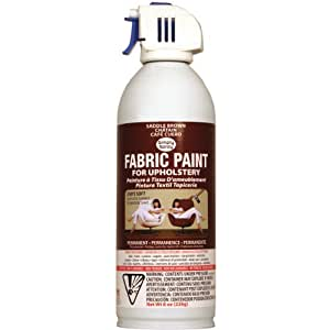 Deval Products Upholstery Spray Fabric Paint, 8-Ounce, Saddle Brown